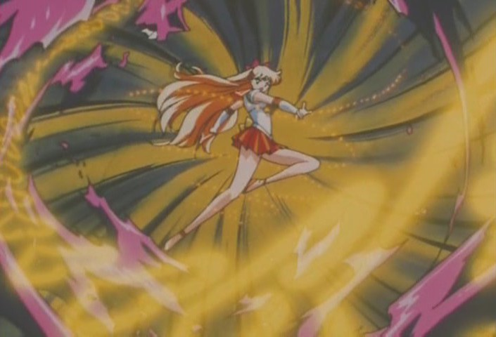 Sailor Venus attacks goo