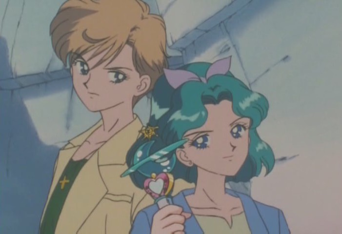 Haruka and Michiru ready to transform