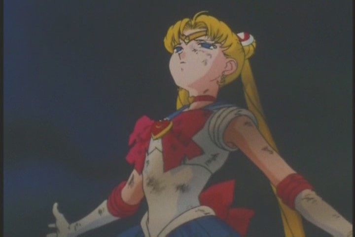 Sailor Moon takes attack for Mistress Nine