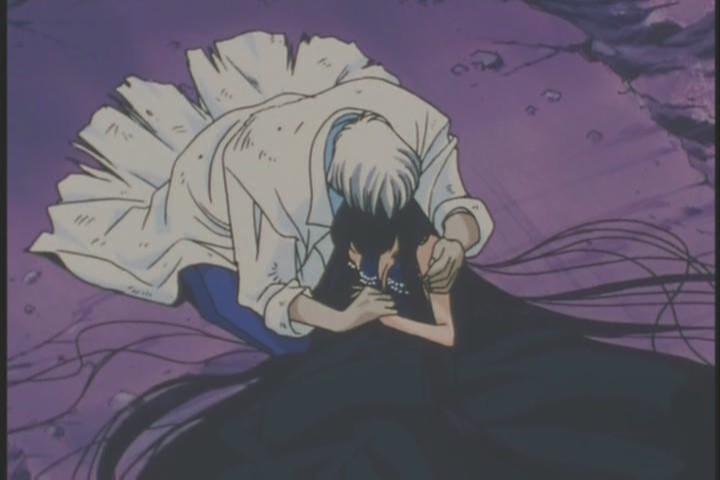 Professor Tomoe cradles Mistress Nine