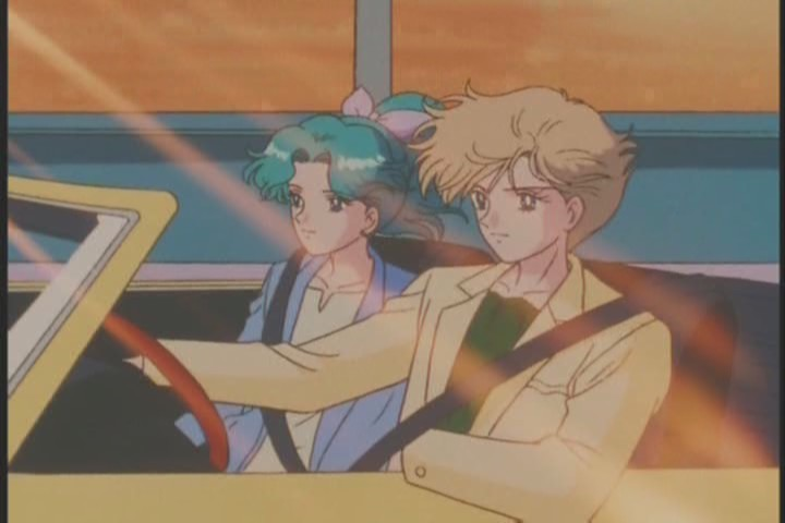 Haruka and Michiru drive off into the sunset