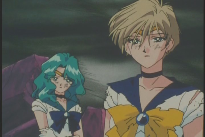 Uranus and Neptune watch Sailor Moon