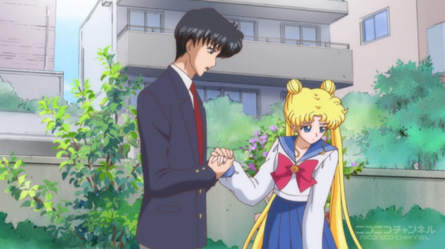 Sailor Moon Crystal - Usagi recoiling from Mamoru