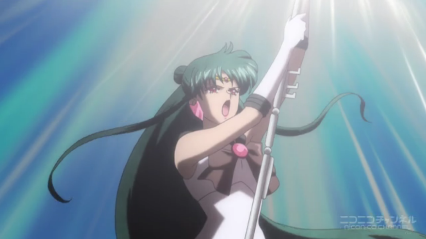 Doesn't hold a candle to Sailor Moon S, where she froze time in the middle of an explosion. Remember THAT?