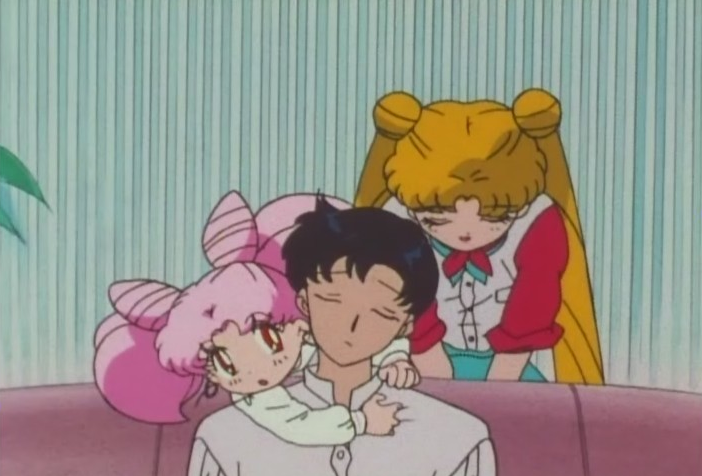 She actually slips into the super-polite form of speech, which sounds bizarre coming from Usagi