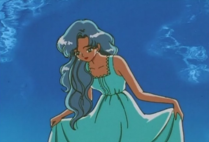 Fish-Eye taking fashion tips from Michiru, here