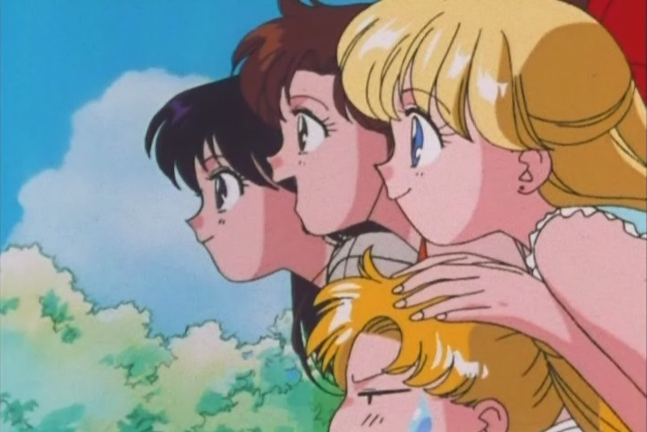 The only way Minako can move around these days is if she uses Usagi as a crutch