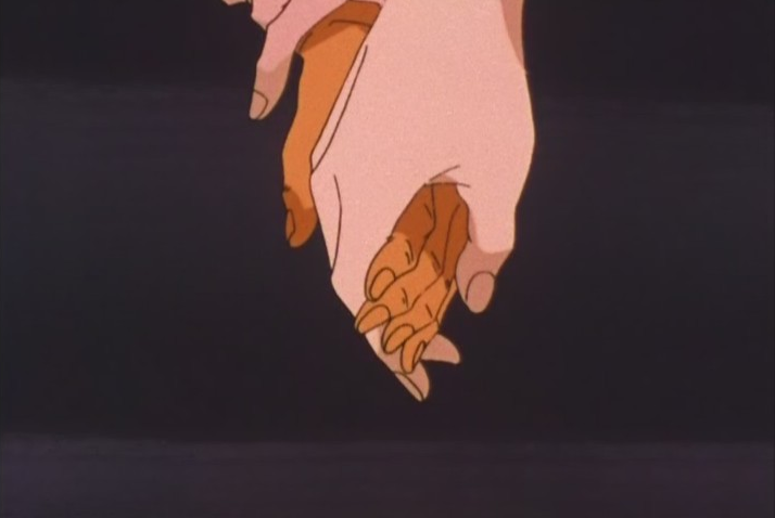 """Wow Minako, your hand is sure leathery and gnarled for a 15 year old girl."""
