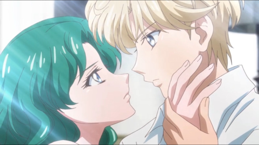 """Huh. Haruka, you know you have chocolate in your eyebrow?"""